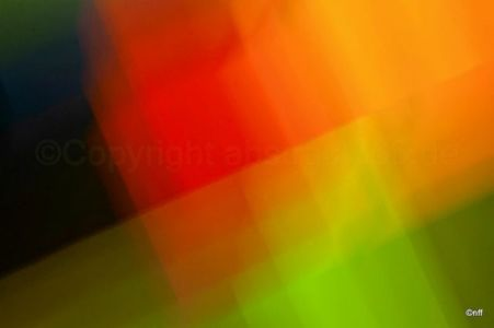 Intentional Camera Movement on colorful decor